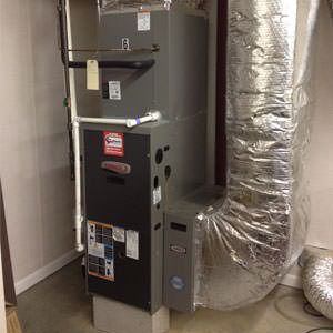 a gas furnace in need of repair at home in dekalb county, ca
